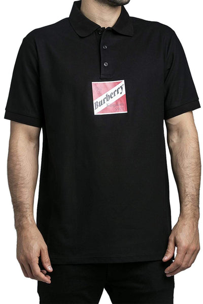 Burberry Square Logo Polo Shirt Black