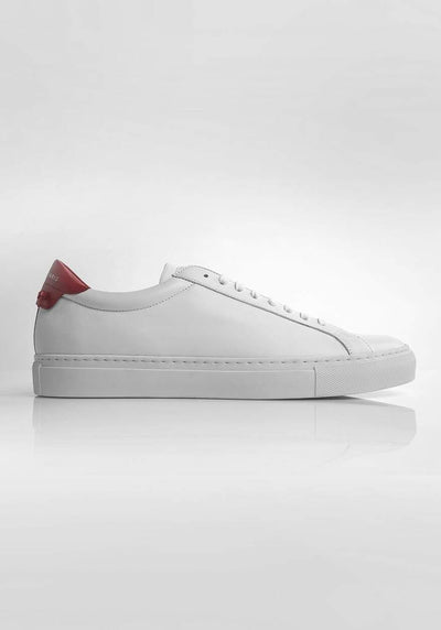 Givenchy Low-Top Lace-Up Sneakers White and Red