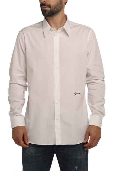 Givenchy Cotton Button-Up Shirt White