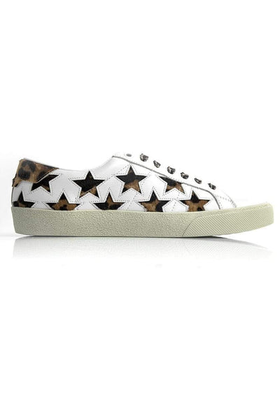 Saint Laurent Star-Print Sneakers Multicolored