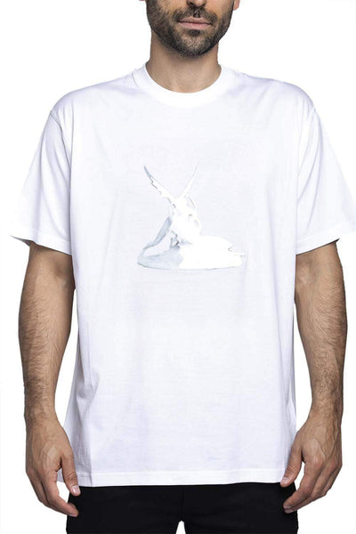 Burberry Cupid Print Cotton T-Shirt White