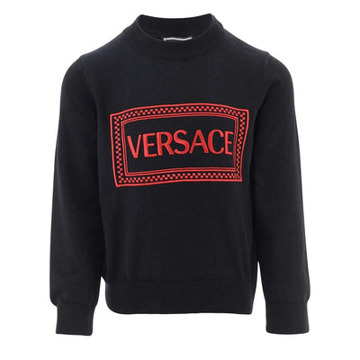 Versace Embroidered Cotton Sweater