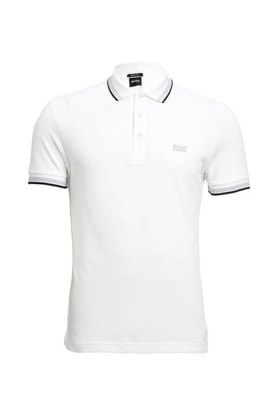 Hugo Boss White Three Button Placket