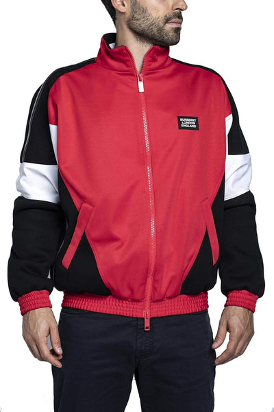 Burberry Color Blocked Track Jacket Red