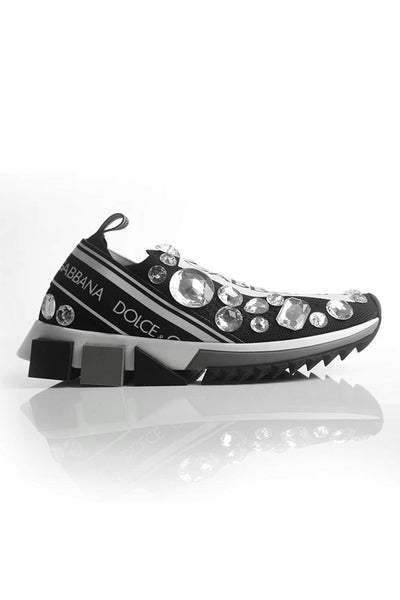 Dolce & Gabbana Crystal Running Shoes Black