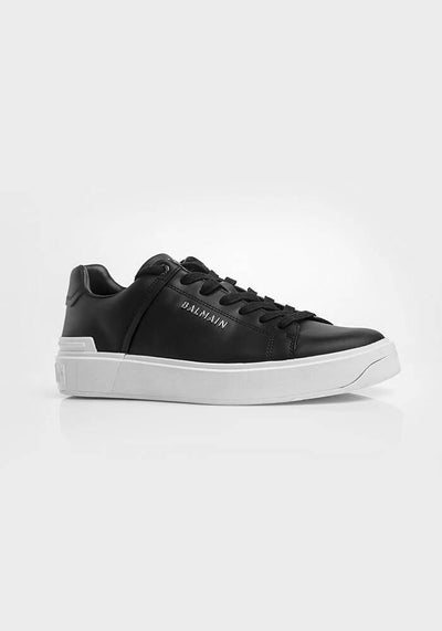 Balmain B-Court Sneakers Black & White