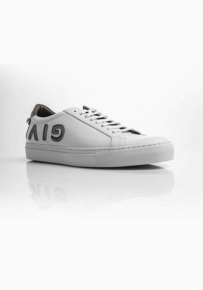 Givenchy Low-Top Lace-Up Sneakers White and Silver