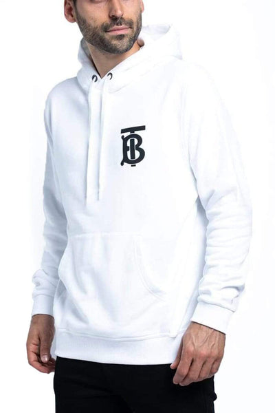 Burberry Monogram Cotton Hoodie White