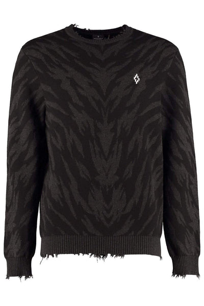 MARCELO BURLON Knitted Tiger Pullover