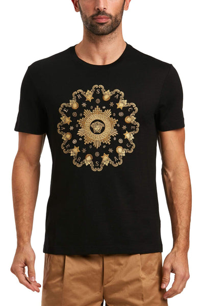 VERSACE Embroidered Cotton T-Shirt