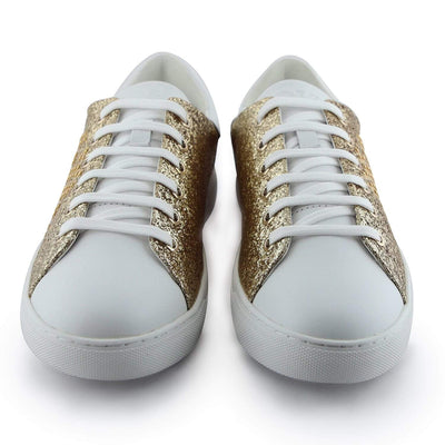 Emporio Armani Gold Women'S Sneakers