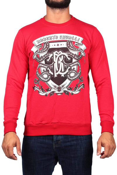 Roberto Cavalli Red Men'S Print Sweatshirt