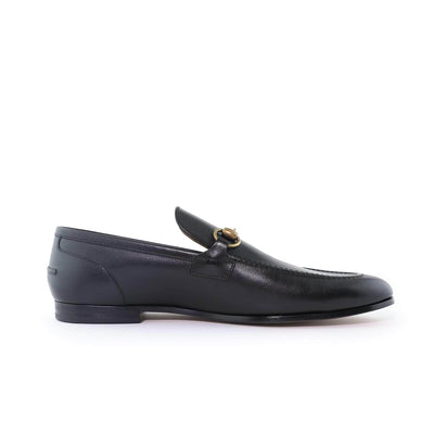 Gucci Black Leather Gucci Jordaan Loafer
