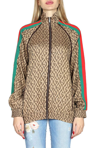 Gucci Full zip sweatshirt with side stripes