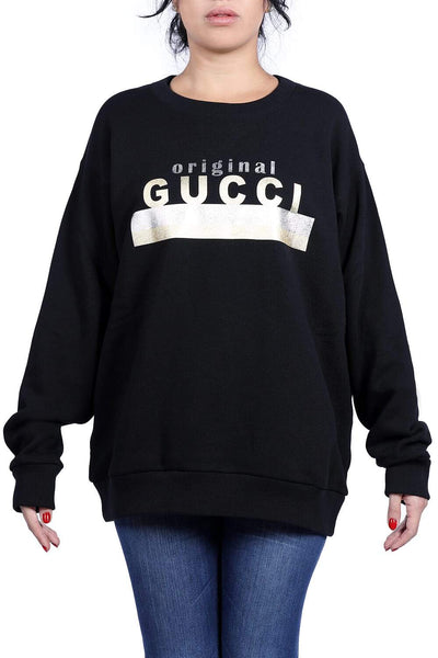 Gucci Logo detail cotton sweatshirt