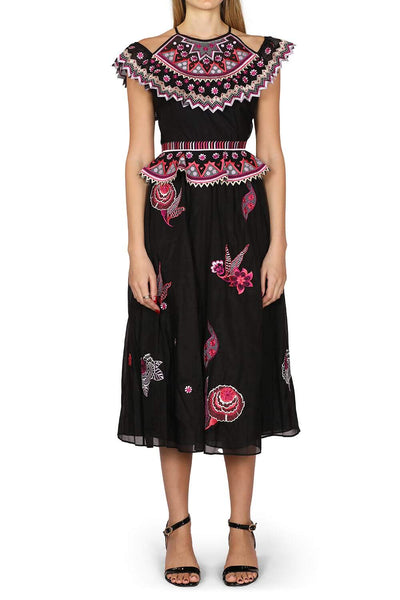 Temperley Black Embroidered Dress