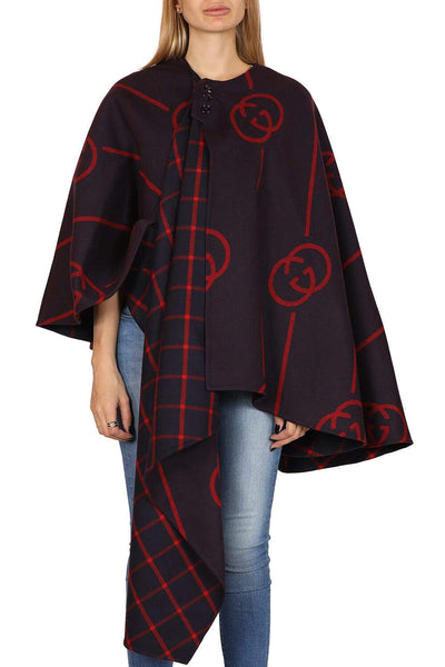 Gucci Asymmetric wool cape