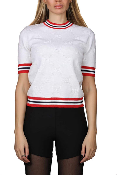 Gucci All-over logo knitted t-shirt