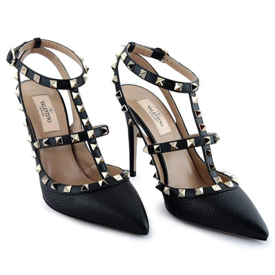 Valentino Black Studded Women'S Shoes