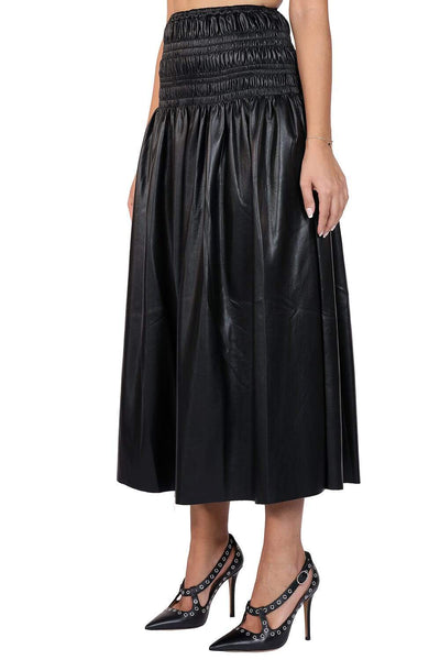 Self Portrait Leather Skirt