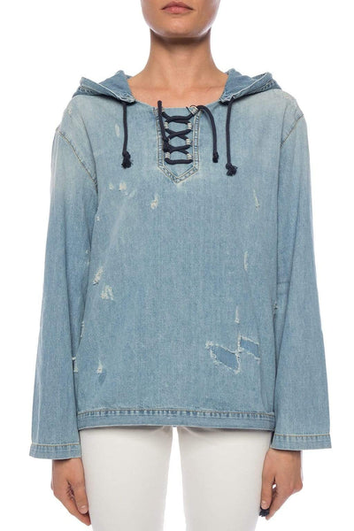 Saint Laurent Denim Hoodie