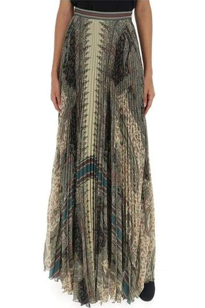 ETRO WOMEN PLEATED MULTICOLORED LONG SKIRT