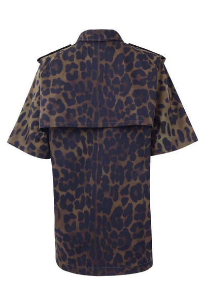 BURBERRY MEN LEOPARD PRINT SHIRT