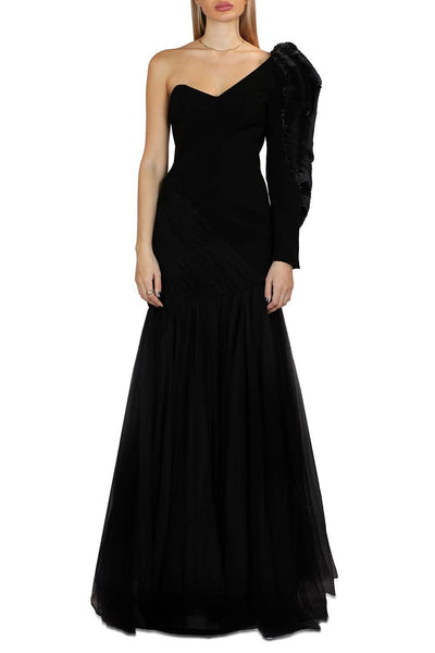 GABY CHARBACHY BLACK MAXI DRESS