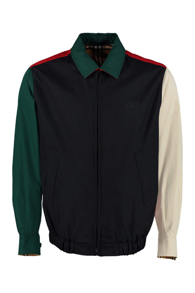 Burberry Color-Block Gabardine Jacket
