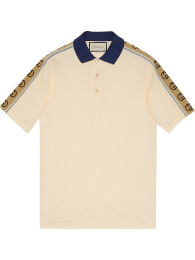Gucci Short-sleeved cotton polo shirt