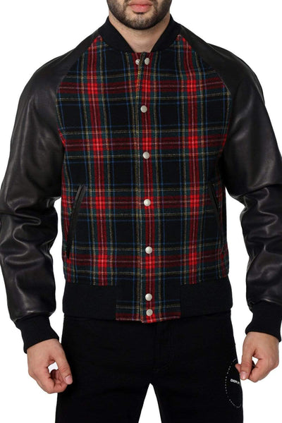 GUCCI Flannel Leather Jacket