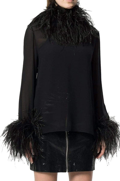 Saint Laurent Trimmed Silk Blouse