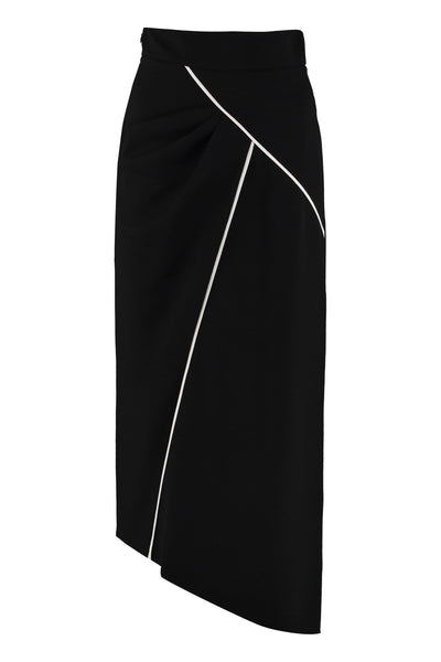 Givenchy Asymmetric Midi Skirt