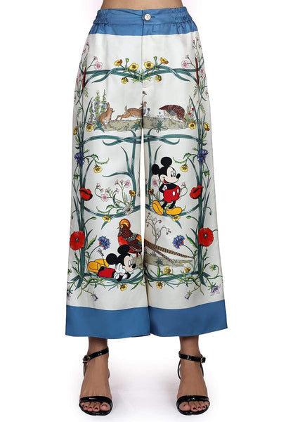 Disney x Gucci printed silk pajama pants