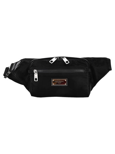 Dolce & Gabbana Nero Sicilia Dna Nylon Belt Bag With Branded Tag