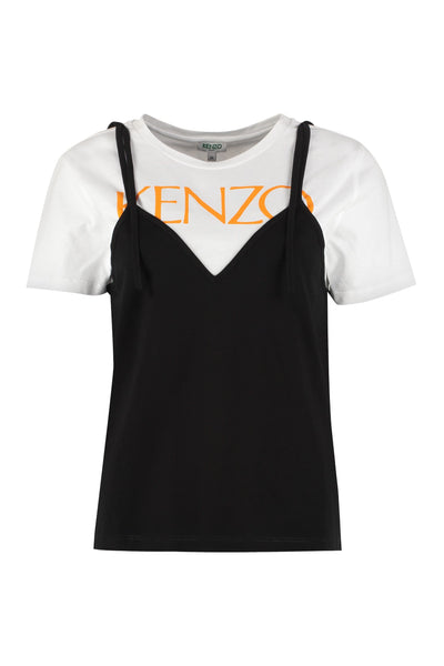 Kenzo Print Cotton Short Sleeves T-shirt