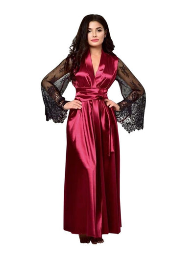 Genuine Satin Long Robe