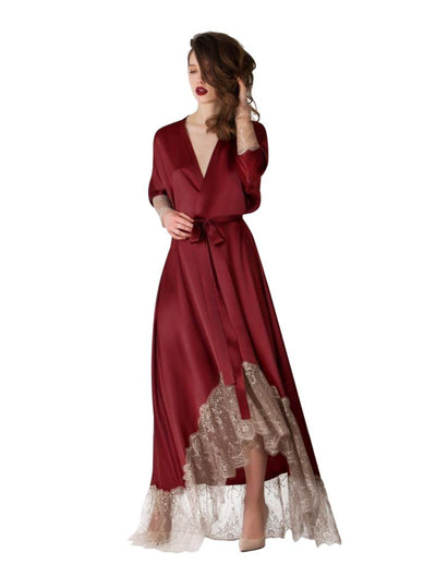 Genuine Satin & Dantelle Long Robe