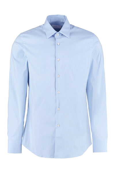 Prada Blue Button-Up Shirt