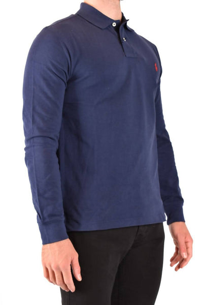 Ralph Lauren Long-Sleeved Polo Shirt In Navy Blue