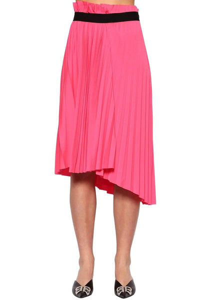 Balenciaga Pleated High-Low Skirt