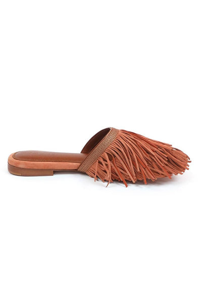 Nothing Like The Queen Fringed Mules