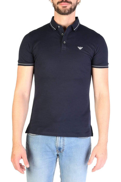 EMPORIO ARMANI NAVY POLO FOR MEN