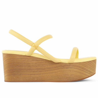 Jeffrey Campbell LINEAR YELLOW PLATFORM WEDGE