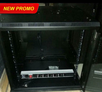Wallmount Rack Server 8U Depth 500mm Single Glass Door Tempered Glass