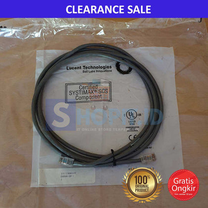 Lucent Kabel Patch Cord UTP Cat 5E, 8ft, Grey [107748089]