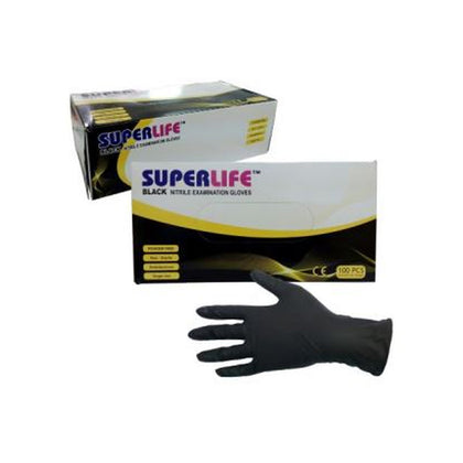 Sarung Tangan Nitrile Black SUPERLIFE Handscoon
