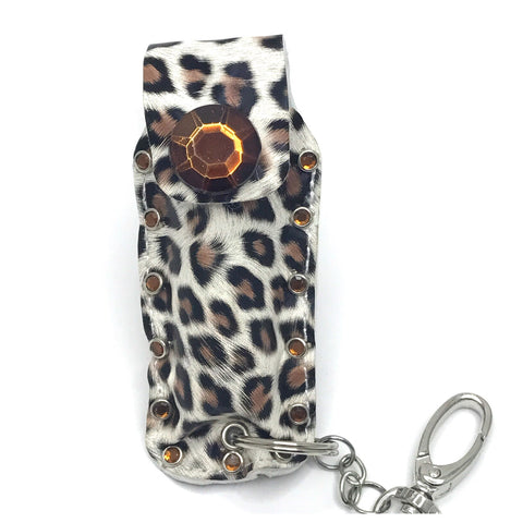 Diva Defense brown leopard pepperpsray