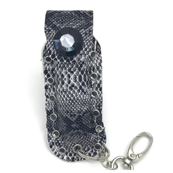 Diva Defense black snakeskin pepperspray
