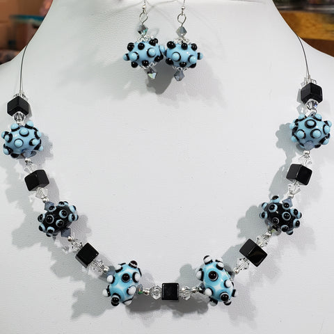 Lampwork Glass Necklace Set